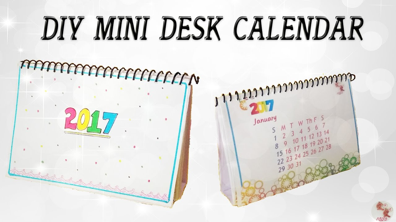 DIY Mini Calendar 2017 Desk Calendar Step by step