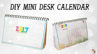 DIY Mini Calendar 2017    Desk Calendar    Step by step tutorial