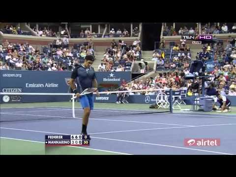 US OPEN 2013 R3  Roger Federer v Adrian Mannarino Full Highlights