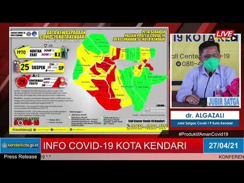 Release Data Medis Covid-19 Kota Kendari, Selasa, 27 April 2021