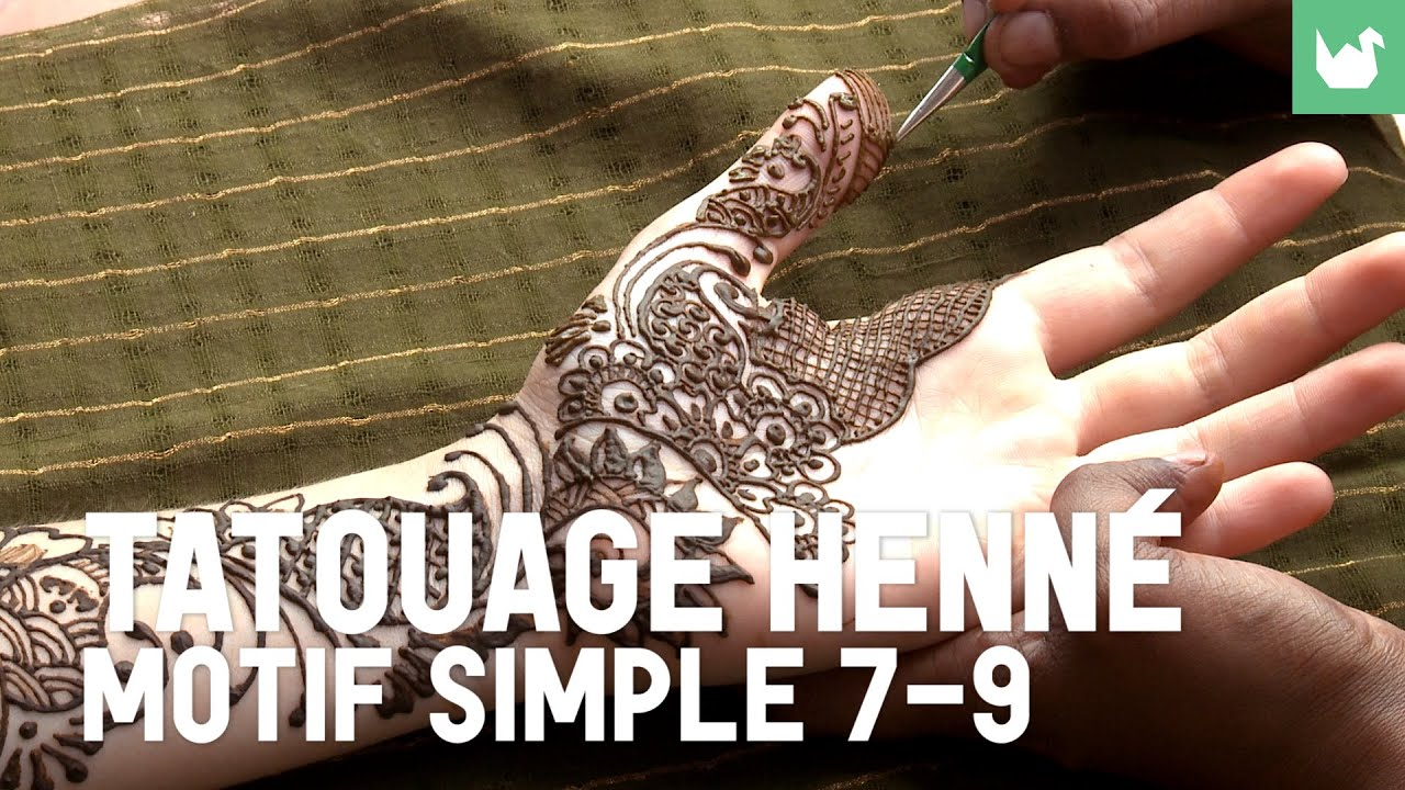 Tatouage henn motif simple 7 9 tatouage au henn - Henne simple main ...