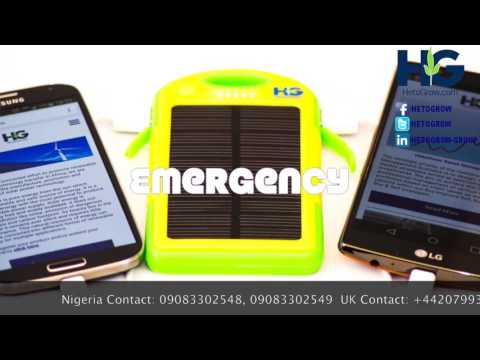 Solar power bank charger from HetoGrow