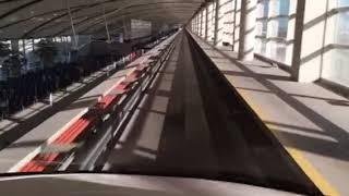 デトロイト空港のエクスプレストラム