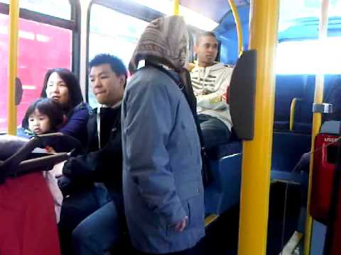 Chinese woman fighting on london bus