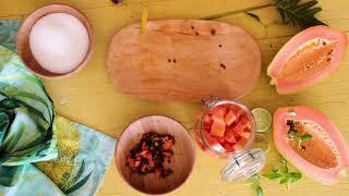 How to make Papaya white wine sorbet