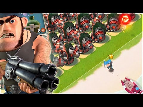 Private Bullit vs ALL Boom Cannon Base!! Boom Beach Blackguard Basebuilder!!
