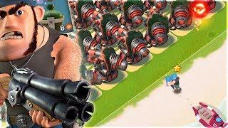 Private Bullit vs ALL Boom Cannon Base!! Boom B...
