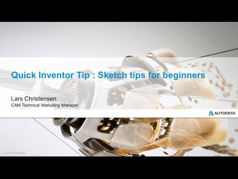 Inventor Sketch Tips