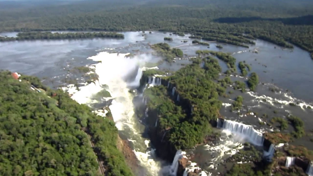 Iguazu Falls Wallpaper Vista Aerea Cataratas Iguazu Iguazu Falls From Air Hd