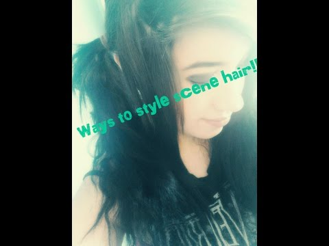 "Different ways to style ""scene/emo"" hair!"