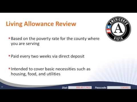 Living on the Living Allowance