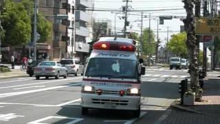 灘90のドクターカー要請に出場して灘消防署前で合流するために灘消防...