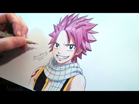 how to draw natsu dragneel