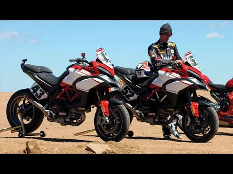 2016 new ducati multistrada 1200 s pikes peak - on road, in action