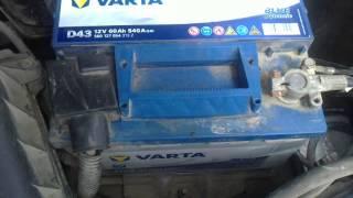 Автомобильный Аккумулятор VARTA D43 60ah.540A.(обзор,отзыв)(Каждый автомобилист знает,что без напряжения в сети,на авто никуда не уедешь,в этом ролике я расскажу о..., 2014-07-27T13:11:46.000Z)