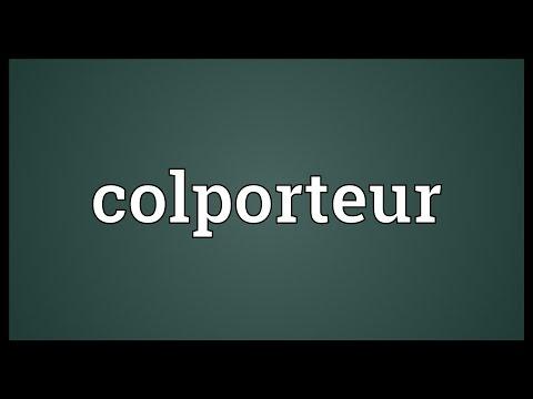 Header of colporteur