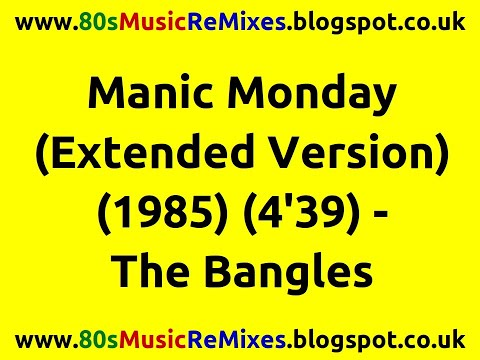 Manic Monday (Extended Version) - Bangles   Prince   80s Pop Music   80s Pop Music Hits   80s Pop