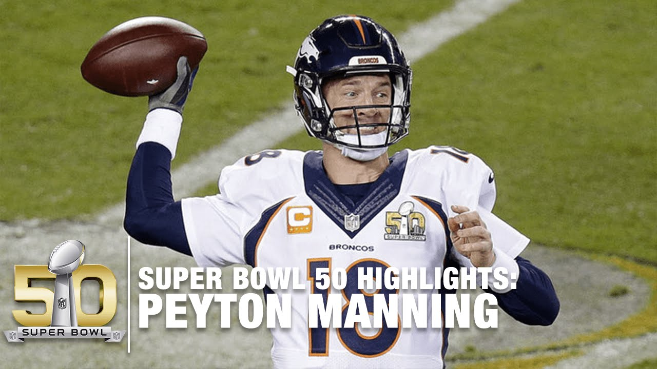 super cute 394dd 1a9e4 Peyton Manning Super Bowl 50 Highlights | Panthers vs. Broncos | NFL