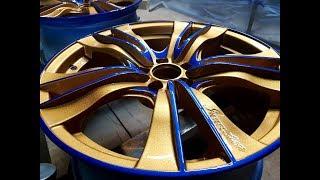 Покраска автомобильных дисков в два цвета