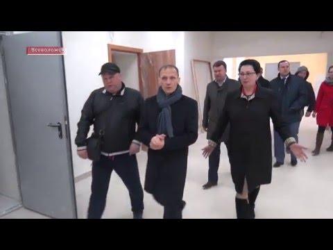 В.П.Драчев инспектирует детский сад на ул. Героев во Всеволожске