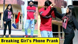 Breaking Girl's Phone Prank | Bhasad News | Pranks in India