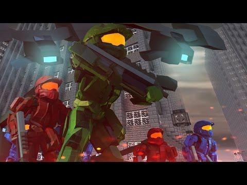 Minecraft   Good vs Evil - HALO LAST RESORT BASE INVASION! (UNSC vs Covenant)