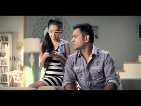 Anushka Sen With Dhoni In Orient Electric TVC