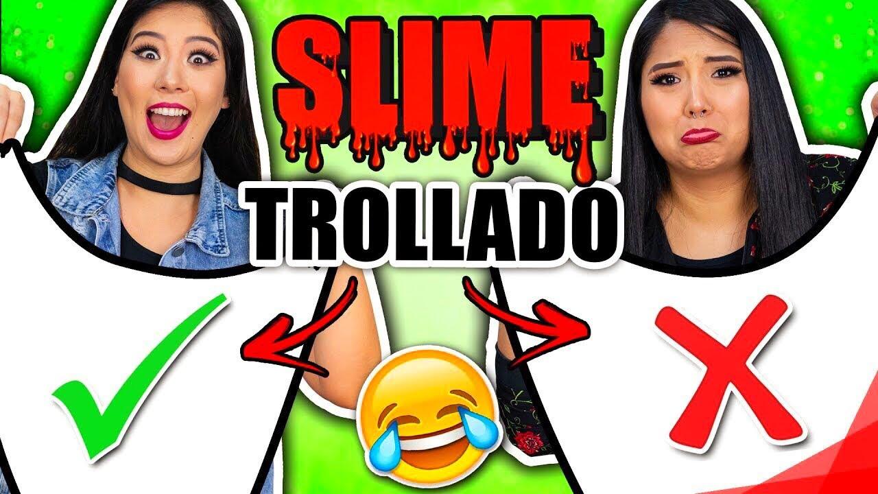 DESAFIO DO SLIME TROLLADO | Blog das irmãs