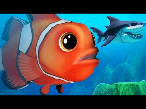 GIANT CLOWN FISH VS GREAT WHITE SHARK - Feed and Grow Fish - Part 26 | Pungence