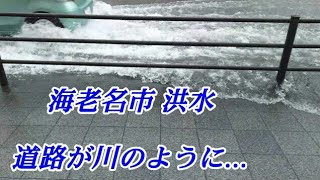【洪水】海老名市駅前十字路にて
