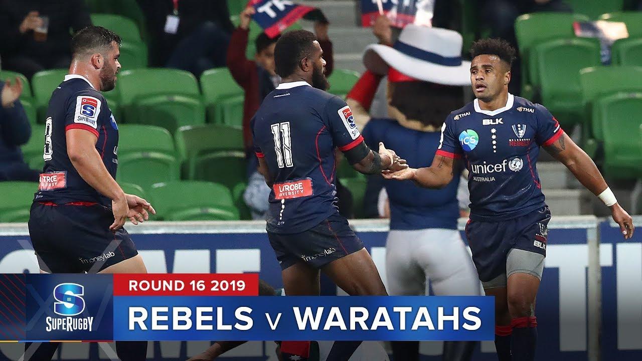 Rebels v Waratahs | Super Rugby 2019 Rd 16 Highlights
