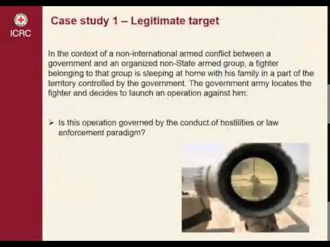 Use of force in armed conflicts 3/5 Case Study 2 – Riot situation