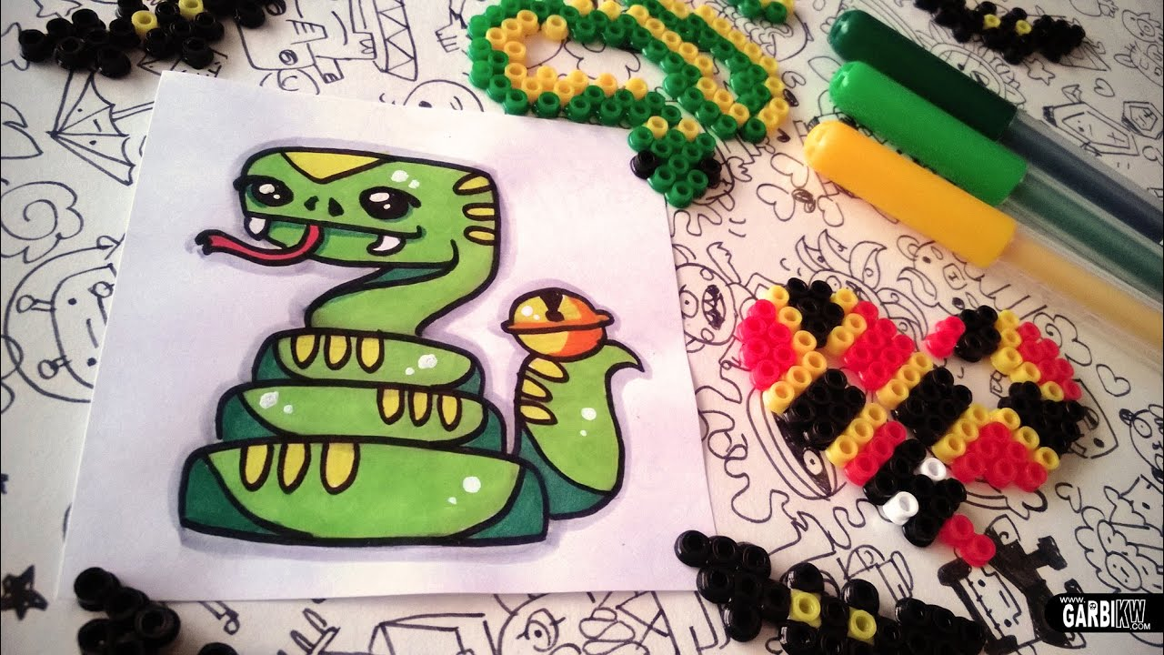 Halloween Drawings - How To Draw Cute Snake by Garbi KW ...