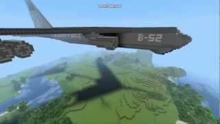 ThesisOfMinecraft: B52-Bomber + 135 TNT Bombing Run [HD]