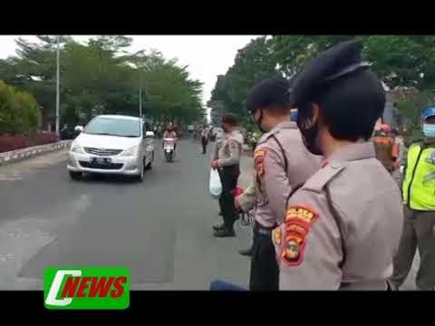 Pembagian Masker gratis di wilayah Kalianda Lampung Selatan