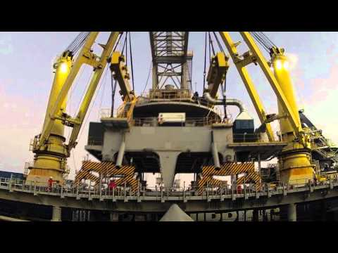 Unloading Karara Shiploader At Geraldton Port