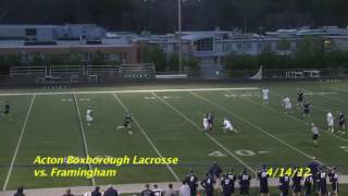 Acton Boxborough Varsity Lacrosse vs Framingham 4/14/12