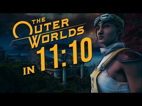 The Outer Worlds Any% Speedrun in 11:10