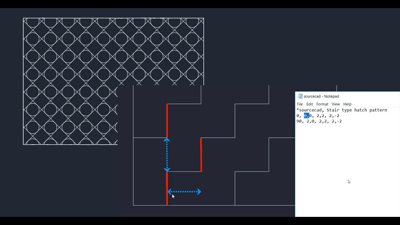 How to make custom hatch pattern in AutoCAD