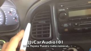 how to remove 2006 Toyota Tundra radio