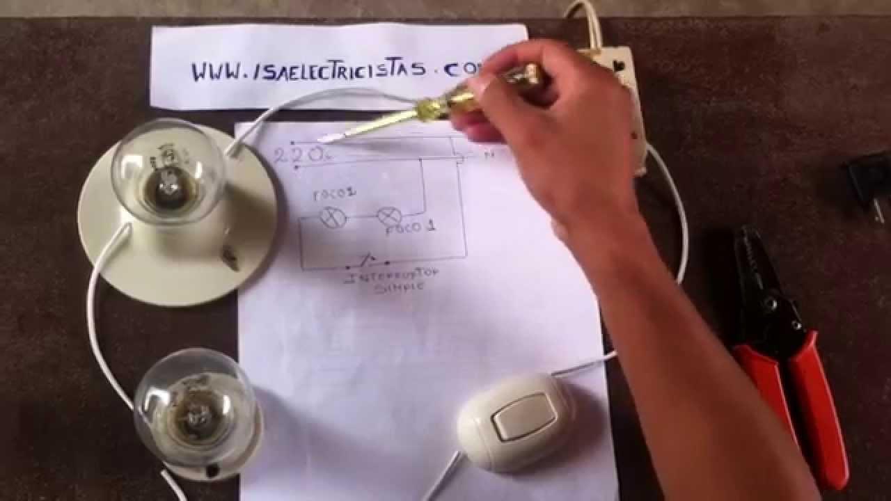 Circuito Electrico En Serie : Como hacer conexiones en serie youtube