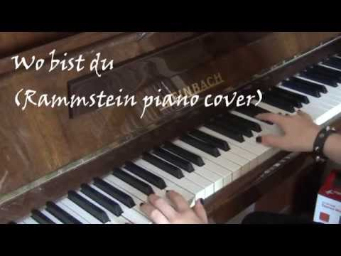 any melody wo bist du rammstein piano cover youtube. Black Bedroom Furniture Sets. Home Design Ideas