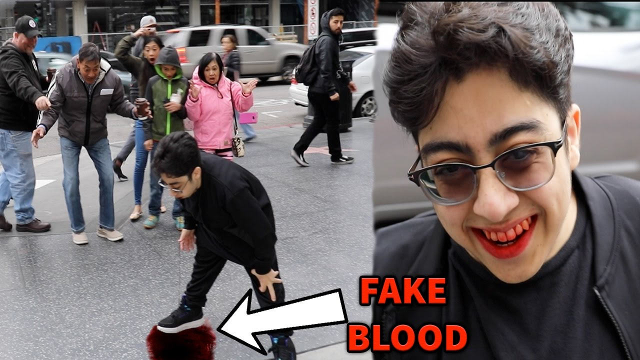 Throwing up blood in public prank youtube throwing up blood in public prank ccuart Image collections