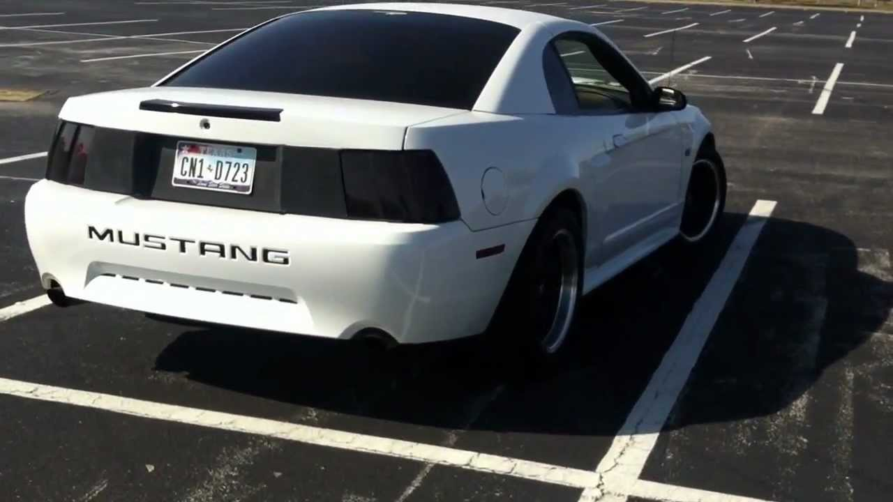 03 mustang gt lt headers o r x pipe flowmaster 40 youtube