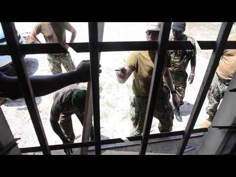 USNS Spearhead & NMCB11 Participate in Gabon COMREL
