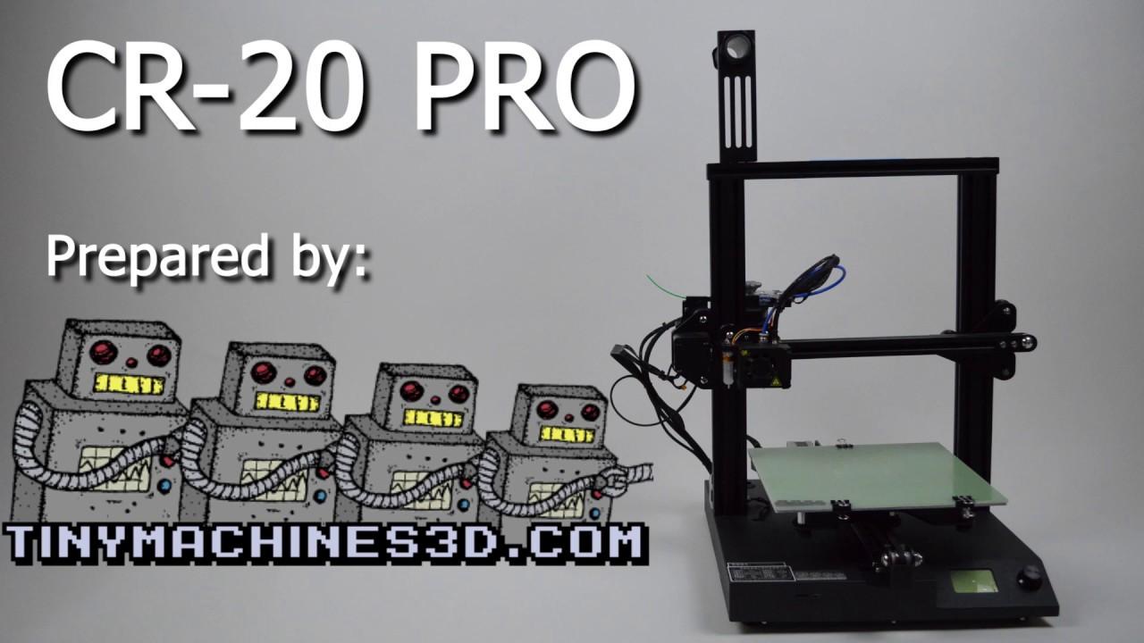 CR-20 PRO SETUP / FIRST PRINT