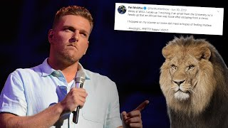 The Time Pat McAfee Chased A Lion At West Virginia