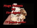 Huge pocket of Fire Agate = 17 pounds! - Opal Hill Fire Agate Mine - Mining America Ep21 - Blyth, CA