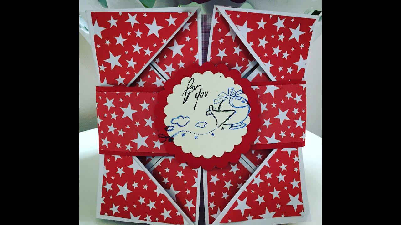 Preferenza Cardmaking Tutorial: Biglietto origami di auguri. - YouTube AP48
