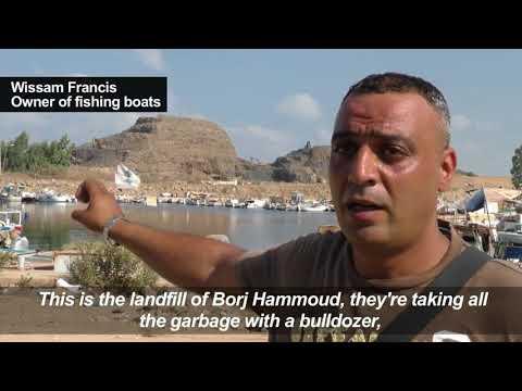 Fishermen Protest Over Garbage Dumped In Sea Off Lebanon